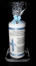 Baby boy Christening candle  poem blessing personalised gift idea