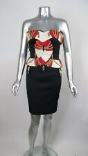 RARE 100% Auth Vintage '89 MOSCHINO COUTURE Cruise Me Baby Strapless Dress 38 4