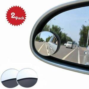 Bizwizz Car Blind Spot Mirrror, Waterproof Convex Rear View Mirror (2 PC)