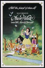 SNOW WHITE AND THE SEVEN DWARFS original DISNEY 27x41 one sheet movie poster