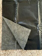 Black Faux leather fabric, 1.5 yds