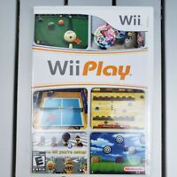 Wii Play Game w/ Case and Instructions Nintendo Wii 2007 – Tested