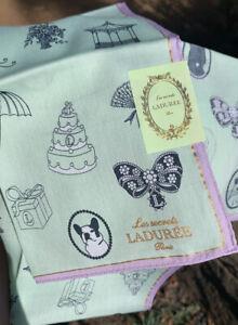 LADUREE Les secrets Paris handkerchief Authentic Cotton bandanna scarf
