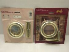 Kir sch Drapery Curtains Scarf Rings 5454-63 Brass Sealed Unopened Package