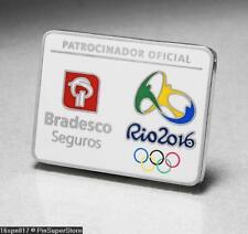 OLYMPIC PINS BADGE 2016 RIO DE JANEIRO BRAZIL BRADESCO SEGUROS SPONSOR LOGO