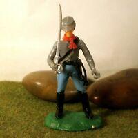 Original Hausser Elastolin 5,6cm Steckfigur beweglich Bürgerkriegs-Soldat zu Fuß
