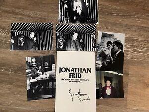 Dark Shadows JONATHAN FRID Signed Promo Flyer And Photo Set