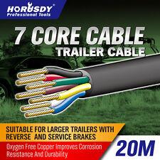 20M X 7 Core Wire Cable Trailer Cable Automotive Boat Caravan Truck Coil V90 PVC