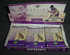 2001-02 Upper Deck Hardcourt Basketball cards 11 Packs NBA Multi leveled rookie