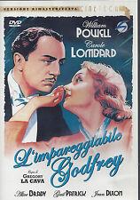 Dvd + Poster 24x36 **L'IMPAREGGIABILE GODFREY** con W.Powell C.Lobard usato 1936