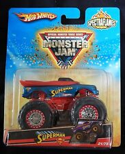 2009 Hot Wheels Monster Jam Superman Spectraflames #21/75 Brand New