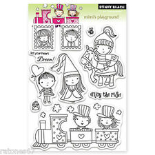 New Penny Black Mimi'S Playground Clear Stamps Valentine's Hearts Princess Train