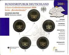 BRD 5 x 2 EURO Stempelglanz von 2006