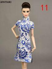 28dfa3c78 1 6 Azul Hecha a Mano Chino Tradicional Vestido para Muñeca Ropa Vestido  Cheongsam Qipao 1 6