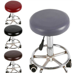 1pc PU Round Chair Cover Waterproof Stool Slipcover Bar Pub Chair Protector Seat