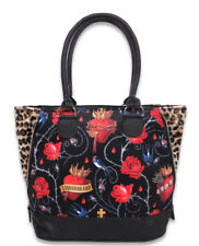 Liquor Brand Sacred Hearts Leopard Birds Shoulder Handbag Purse Bag LB-BSH-00038