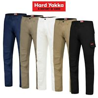 Mens Hard Yakka Work Trade Pants 3056 Canvas Stretch Cargo Slim Fit Tough Y02880