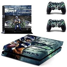 Seattle Seahawks PS4 Skin Sticker Decal Vinyl Console + 2 controllers