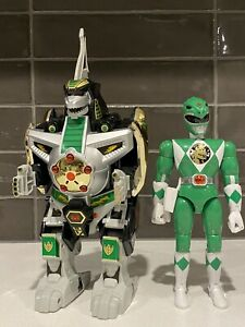 1992 Mighty Morphin Power Rangers Dragonzord Bandai with Green Ranger Toy