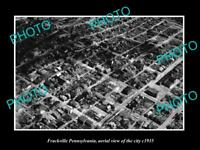 OLD LARGE HISTORIC PHOTO OF FRACKVILLE PENNSYLVANIA AERIAL VIEW OF CITY c1935