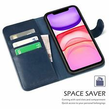 Wallet Case iPhone 11 Pro Max Leather Flip Cover Kickstand Card Slots Shockproof