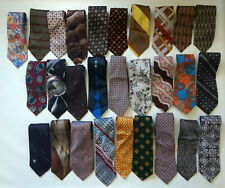 Lot of 28 Vintage authentic 1970' s wide Neckties Sears Dior Men's Retro Ties