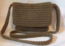 The Sak Crochet Knit Shoulder Bag Hobo Purse Small Flap Crossbody Handbag