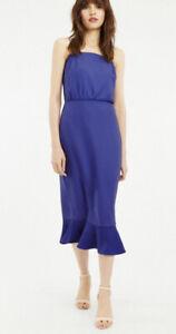 Oasis Square Neck Coloum Dress Size 14 New Was £59