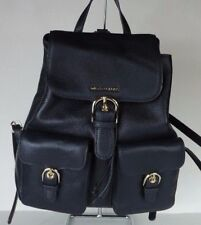New Michael Kors Cooper Large Flap Backpack leather navy flap push lock logo bag