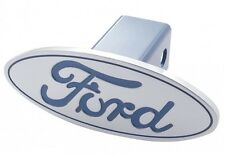 Ford Pick-Up Truck Billet Aluminum Blue Oval Logo Trailer Hitch Receiver Cover