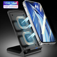 15W Qi Wireless Fast Charger Charging Stand For iPhone 12 Pro Max 5G Note 20 Pro