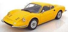 1/12 Scale 1973 FERRARI DINO 246 GT YELLOW LE of 600 Model Car By KK Scale
