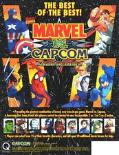 MARVEL VS CAPCOM Clash Of Super Heroes 1998 Original NOS Video Arcade Game Flyer