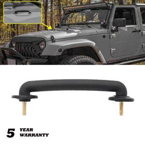 Black Hold Down Bracket Strap Hood Windshield For Jeep Wrangler  TJ JK 1997-2018