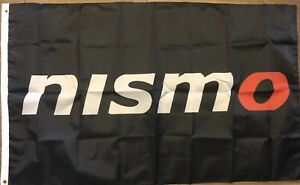 NISMO Flag 3x5 Nissan Banner Japanese Motorsport Car Racing Black Man Cave