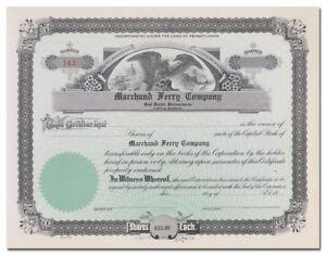 Marchand Ferry Company Stock Certificate (Coal Center, Pennsylvania)