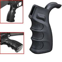 Tactical Ergonomic Finger Groves For 223 5.56 Pistol Grip Handle Motor Grip BK