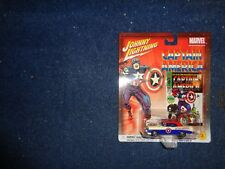 Johnny Lightning Marvel #3 Captain America #100 56 Chevy Convertible Car M I B P