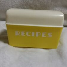 Vintage Yellow Lustro' Ware Plastic Recipe Box No. B-25