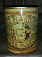 Vintage The Planters Salted Peanuts Mother's Brand-Tin  Container peanut tin
