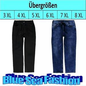 LAVECCHIA Übergröße blue black Jeanshose washed Jeans Hose Size XXL 3 4 5 6 7XL
