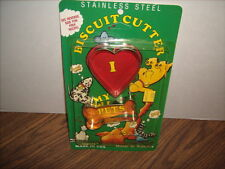 Dog Biscuit Cookie Cutters NEW Bone and Heart with Recipe Lone Toy Tree USA Made