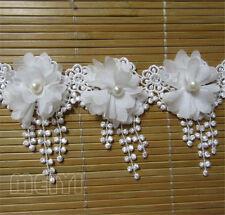 10pcs Vintage Fringe Chiffon Pearl Lace Edge Trim Tassel Ribbon DIY Sewing Craft