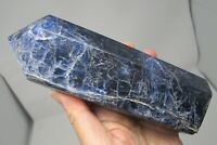 Sodalite Healing Crystal Obelisk Natural polished Carving confidence deep blue