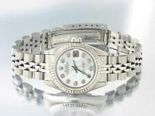 ROLEX DATEJUST LADIES STAINLESS STEEL DIAMOND WATCH OYSTER AUTOMATIC WATCH