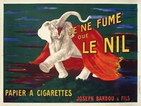 Original Vintage Poster - L. Cappiello - Je ne fume que le Nil - Elephant - 1912