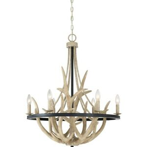 Quoizel 6 Light Journey Chandelier, Earth Black - JR5006EK