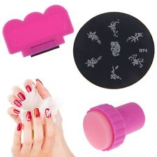 Nail Art Polish Manicure Stamp Set Stamping Plates Stamper Scraper For DIY