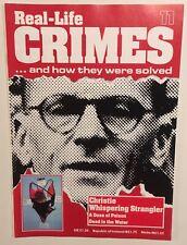 Real-Life Crimes Magazine 11 Serial Killer Strangler John Christie RARE CSI Pics