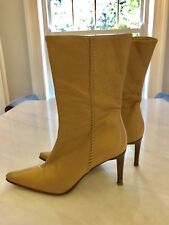 NEXT ladies womens beige Italian leather boots Size UK 4 / Eur 37